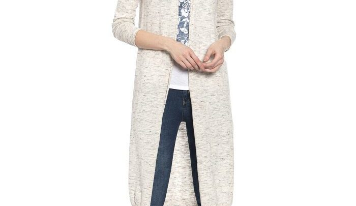 Photo of 26% Réduction Grey Solid Cardigan 139dhs