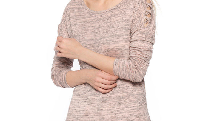 Photo of 27% Réduction Pink Standard Solid Long Sleeve Crew Neck Body 79dhs