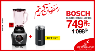 31% Réduction Promotion Electroplanet Blender BOSCH + Moulin Epices 749Dhs