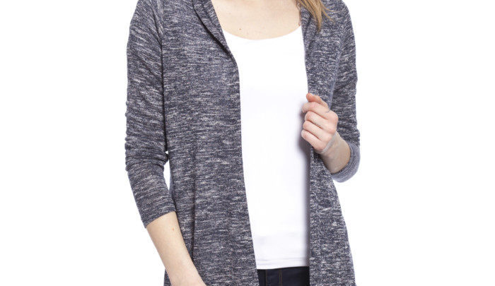 Photo of 21% Réduction Navy Solid Hooded Cardigan 109dhs