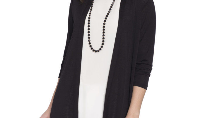 Photo of 26% Réduction Black Solid Cardigan 109dhs
