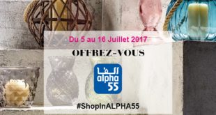 Alpha 55 Shop In Casablanca du 5 au 16 Juillet 2017