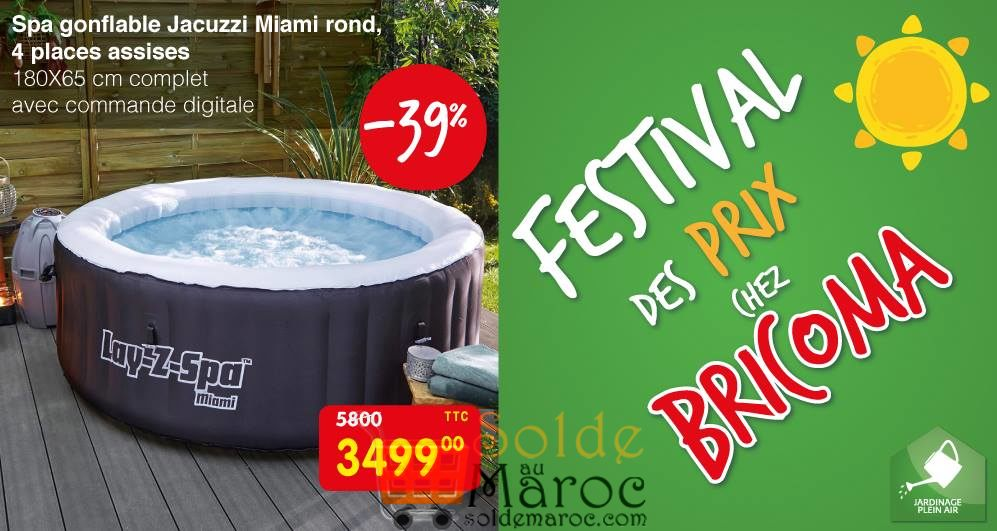 promo bricoma spa gonflable jacuzzi miami rond 4 places. Black Bedroom Furniture Sets. Home Design Ideas