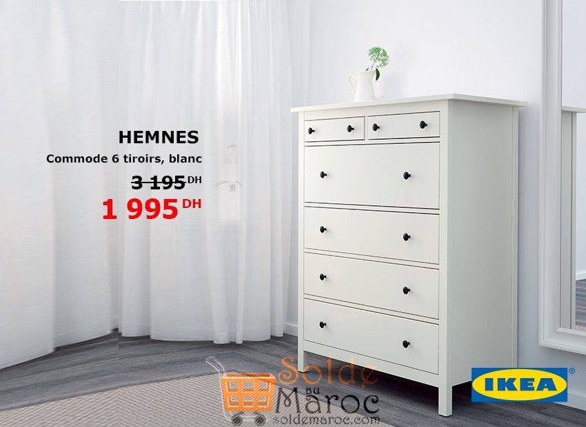 promo ikea maroc commode 6 tiroirs hemnes 1995dhs les. Black Bedroom Furniture Sets. Home Design Ideas