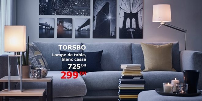 promo ikea maroc lampe de table torsbo 299dhs les soldes et promotions du maroc. Black Bedroom Furniture Sets. Home Design Ideas