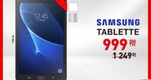 Promo Electroplanet tablette Samsung A6 999Dhs