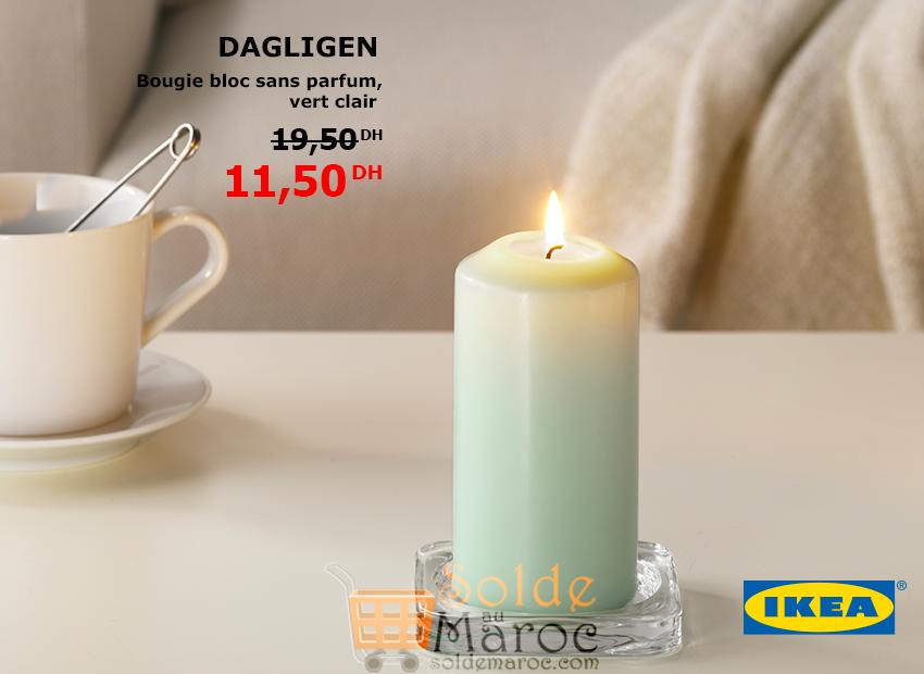 promo ikea maroc bougie bloc sans parfum gagligen 11 50dhs les soldes et promotions du maroc. Black Bedroom Furniture Sets. Home Design Ideas