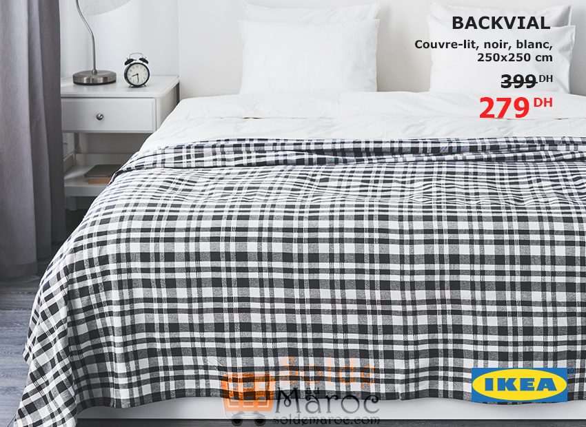 couvre lit promotion Promo Ikea Maroc ouvre lit BACKVIAL 279Dhs – Promotion du Maroc couvre lit promotion
