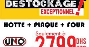 Déstockage Electro Bousfiha Hotte + Plaque + Four 2799Dhs