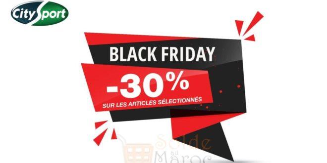 City Sport Maroc -30% Articles Sélectionnés du 24 novembre au 26 novembre 2017
