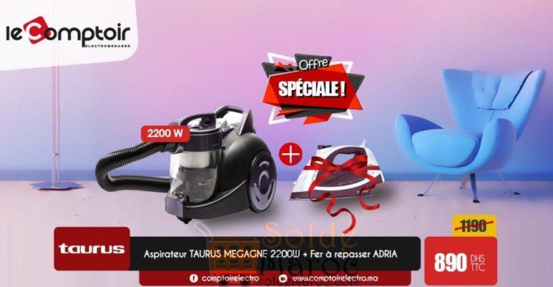 Photo of Offre Spéciale Le Comptoir Electro Aspirateur Taurus + fer à repasser Offert 890dhs