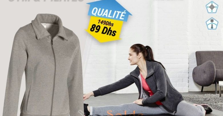 Photo of 40% Réduction Veste sans capuche Gym & Pilates Femme Gris Chiné Moyen 149Dhs