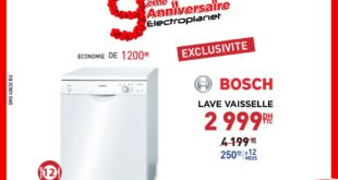 Promo Electroplanet Lave vaisselle BOSCH 2999Dhs