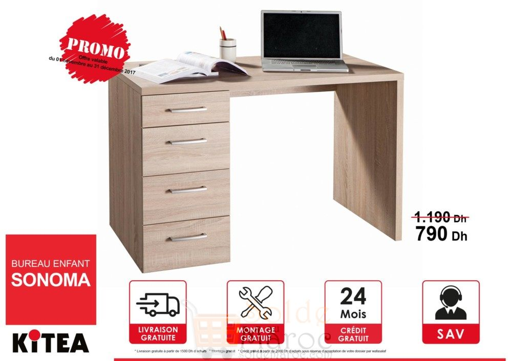 promo kitea bureau enfant sonoma les soldes et. Black Bedroom Furniture Sets. Home Design Ideas