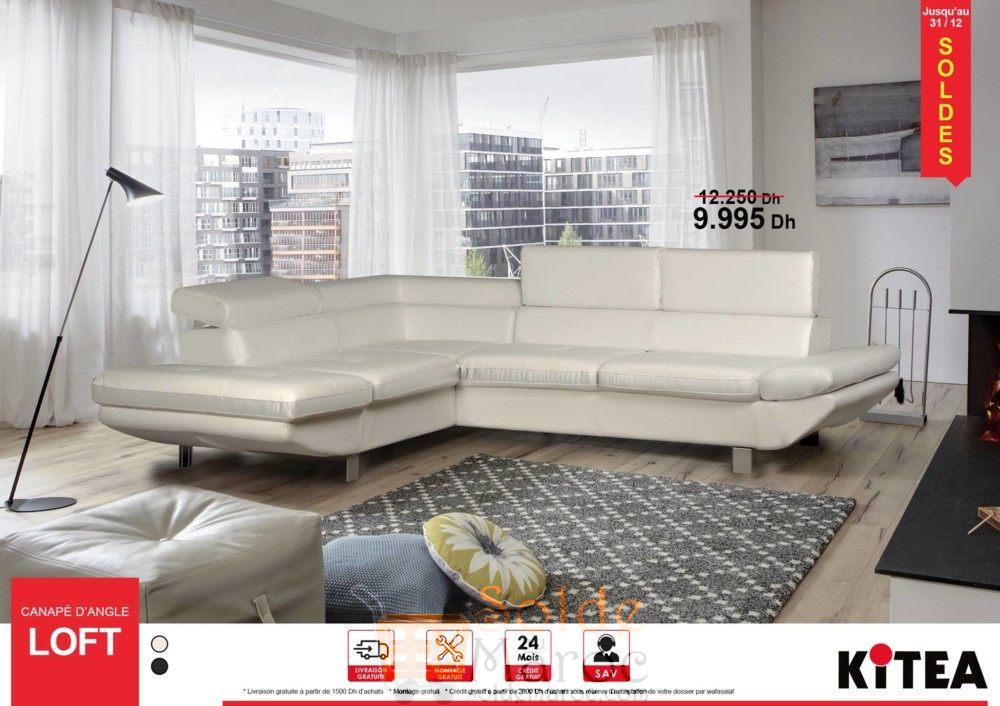 promo kitea canap d angle loft les soldes et promotions du maroc. Black Bedroom Furniture Sets. Home Design Ideas