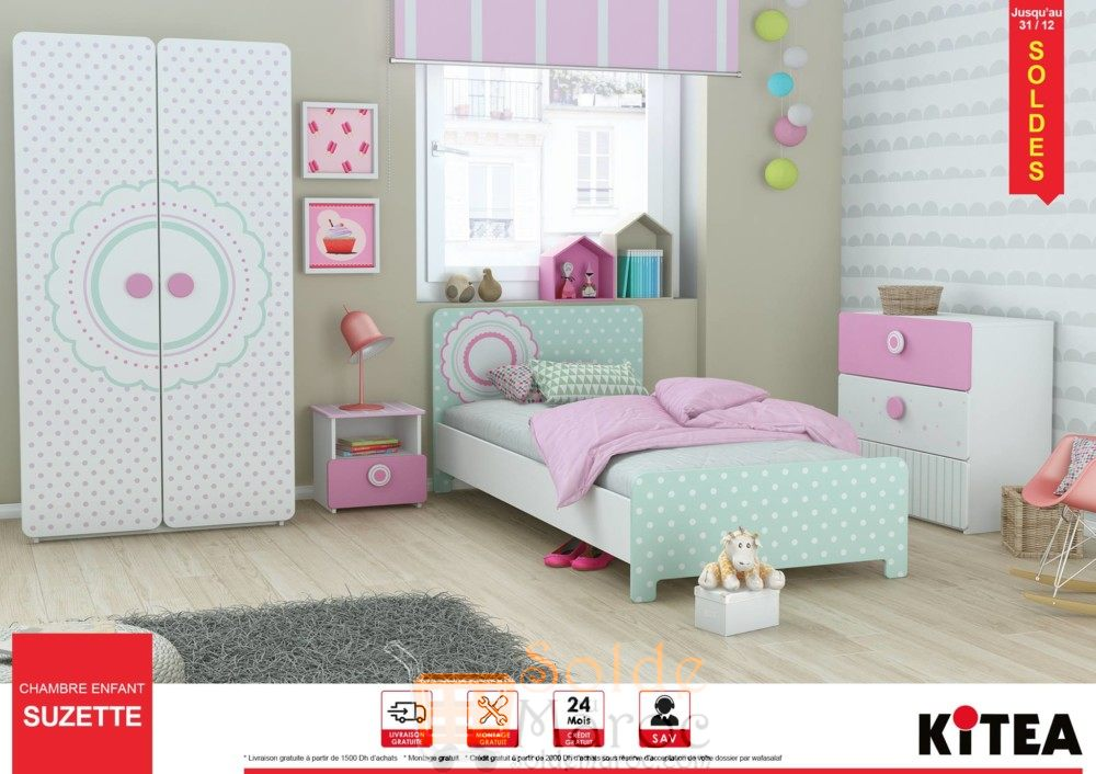 solde kitea chambre enfant suzette les soldes et. Black Bedroom Furniture Sets. Home Design Ideas