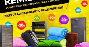 20% Réduction Marjane Couvertures polaires et les Meubles à chaussures jusqu'à 9 décembre 2017