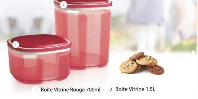15% Réduction Tupperware Maroc Boite Vitrine