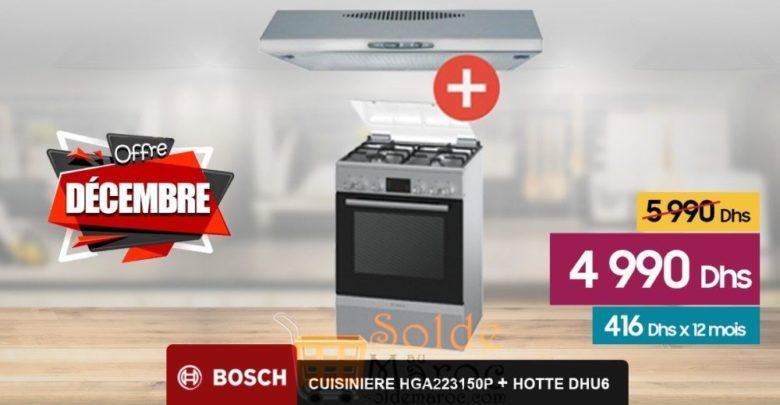 Photo of Promo Le Comptoir Electro Cuisinière + Hotte Bosch 4990Dhs
