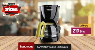 Promo Le Comptoir Electro Cafetière Livorno 12 Taurus 219Dhs