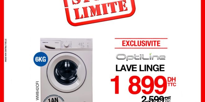 promo electroplanet lave linge optiline 6kg 1899dhs promotion du maroc. Black Bedroom Furniture Sets. Home Design Ideas