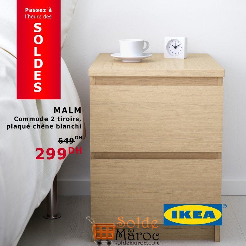 soldes ikea maroc commode 2 tiroirs malm 299dhs les soldes et promotions du maroc. Black Bedroom Furniture Sets. Home Design Ideas