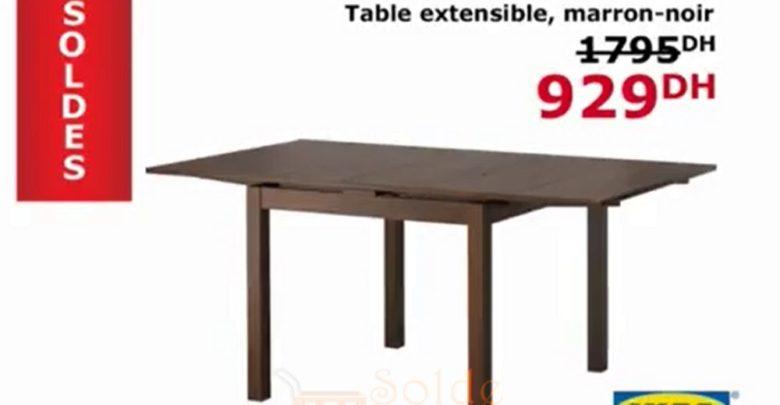 Photo of Promo Ikea Maroc Table BJURSTA Extensible Marron-Noir 929Dhs