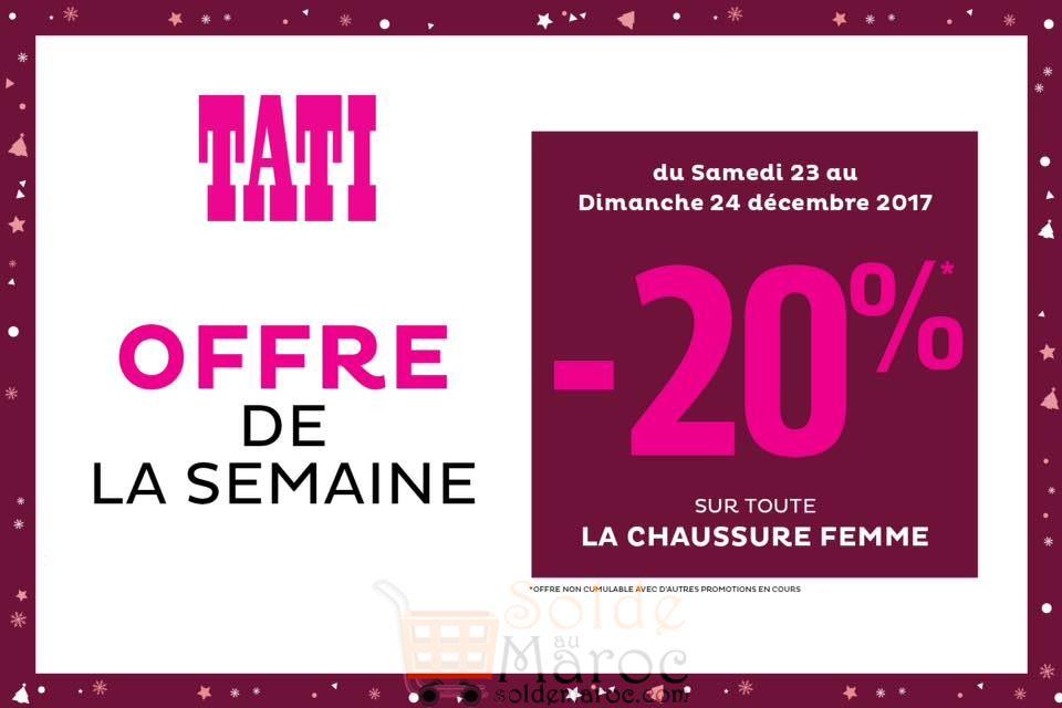 la Tati 20 Sur Réduction Maroc Femme Chaussure toute Ow71g