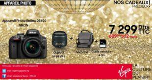 Promo Virgin Megastor Maroc Appareil Photo Nikon 7299Dhs