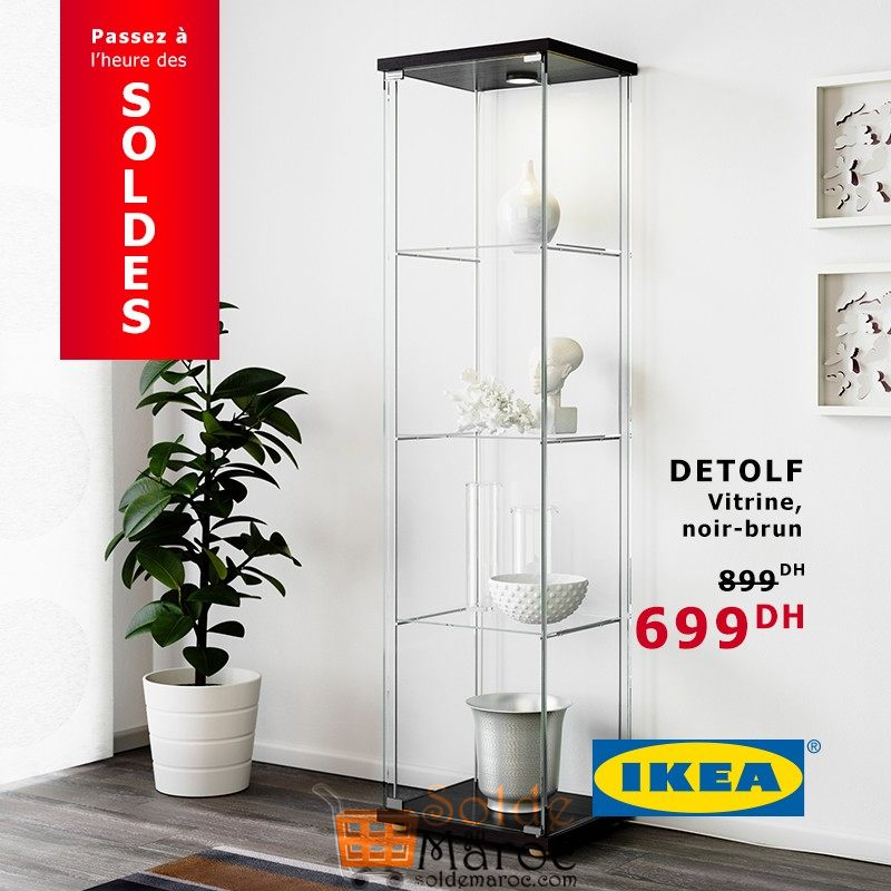 elegant promo ikea maroc vitrine detolf dhs with vitrine detolf with ikea vitrine. Black Bedroom Furniture Sets. Home Design Ideas