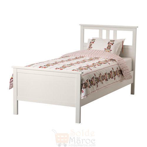 soldes ikea maroc cadre de lit hemnes blanc laqu 1795dhs. Black Bedroom Furniture Sets. Home Design Ideas
