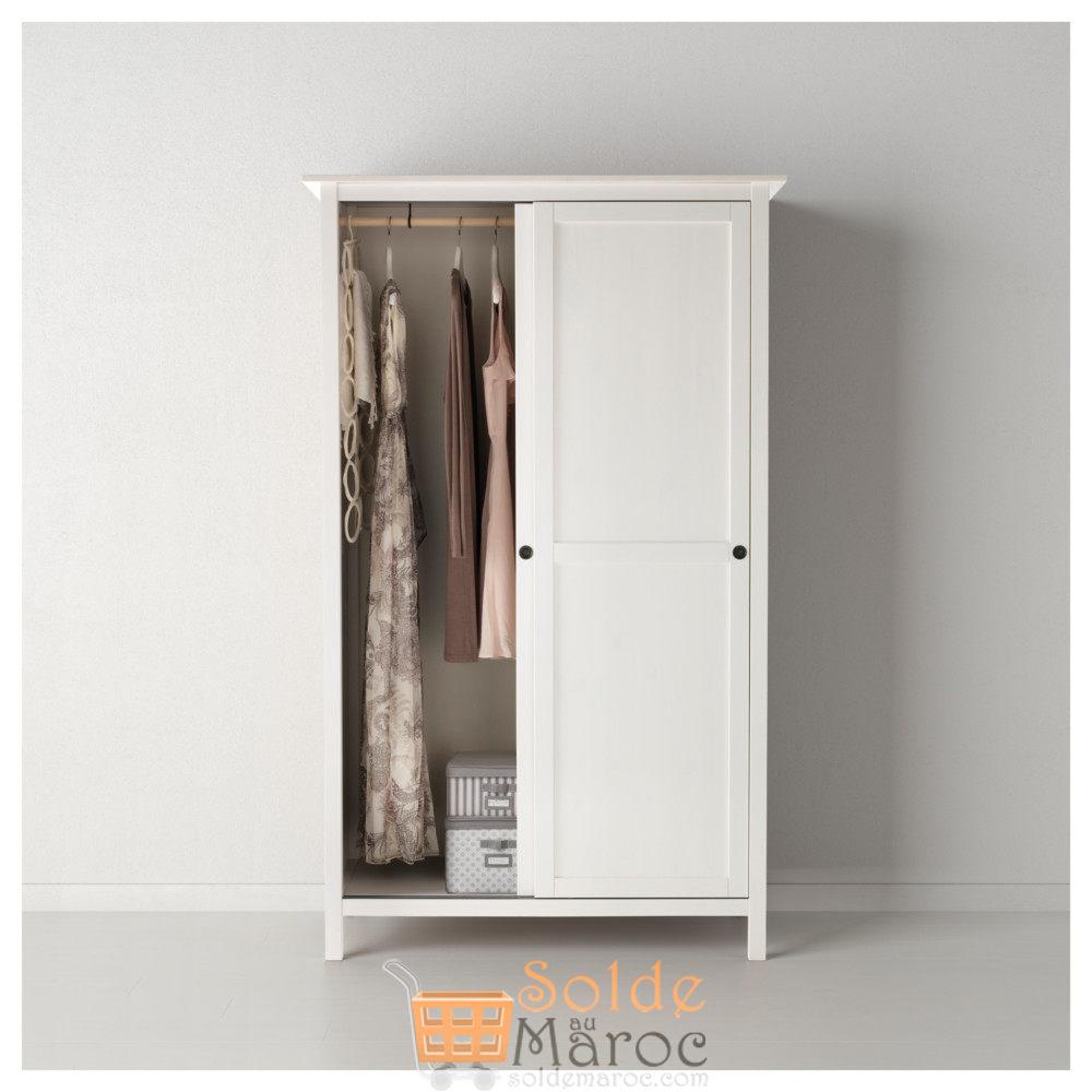 Porte Laque Blanc Ikea soldes ikea maroc penderie à 2 portes coulissantes hemnes