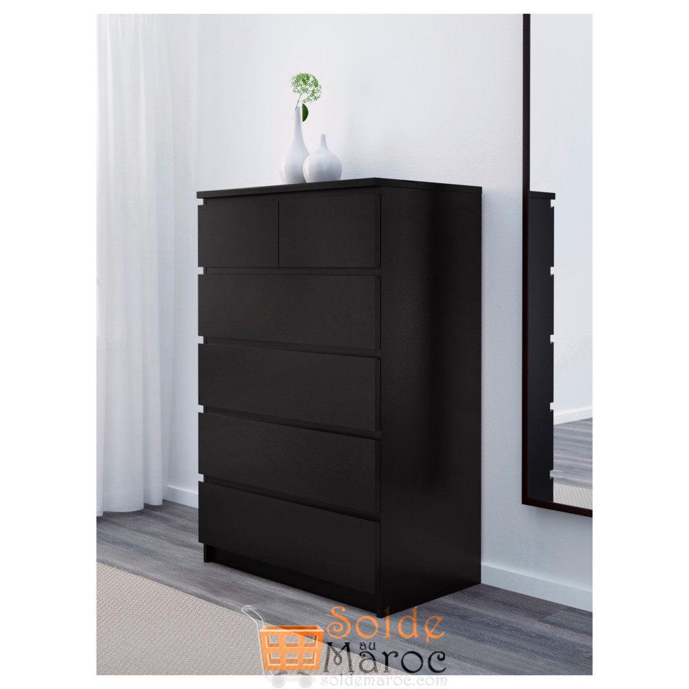 soldes ikea maroc commode 6 tiroirs malm noir brun 999dhs les soldes et promotions du maroc. Black Bedroom Furniture Sets. Home Design Ideas