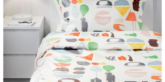 Soldes Ikea Maroc Housse de couette et taie d'oreiller DOFTKLINT Multicolore 179Dhs