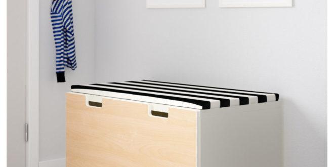 Soldes Ikea Maroc Banc avec rangement STUVA Blanc Bouleau 949Dhs
