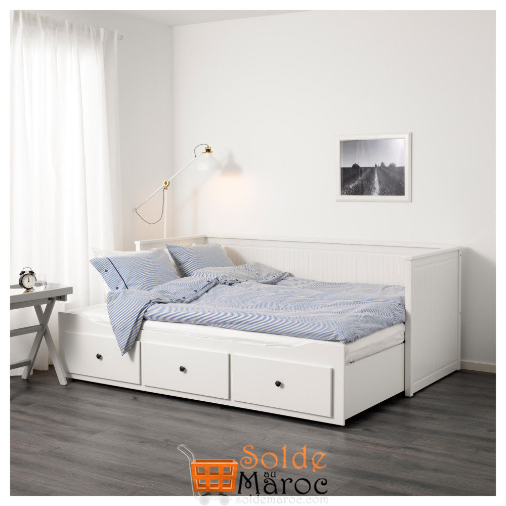 Soldes Ikea Maroc Cadre Lit D Appoint Avec 3 Tiroirs Hemnes Blanc