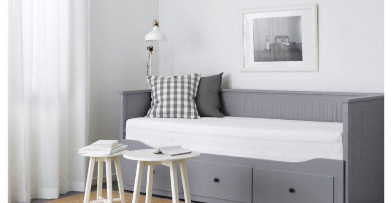 Soldes Ikea Maroc Lit d'appoint HEMNES 3tiroirs 2matelas gris Moshult ferme 4895Dhs
