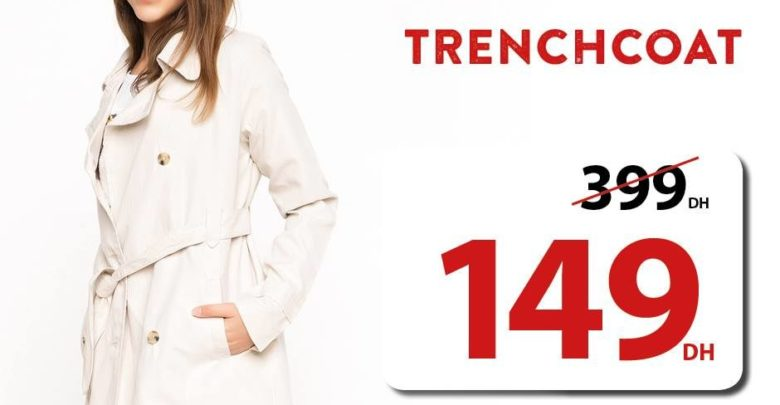 Photo of Offre Spéciale Defacto Maroc Trenchcoat 149Dhs