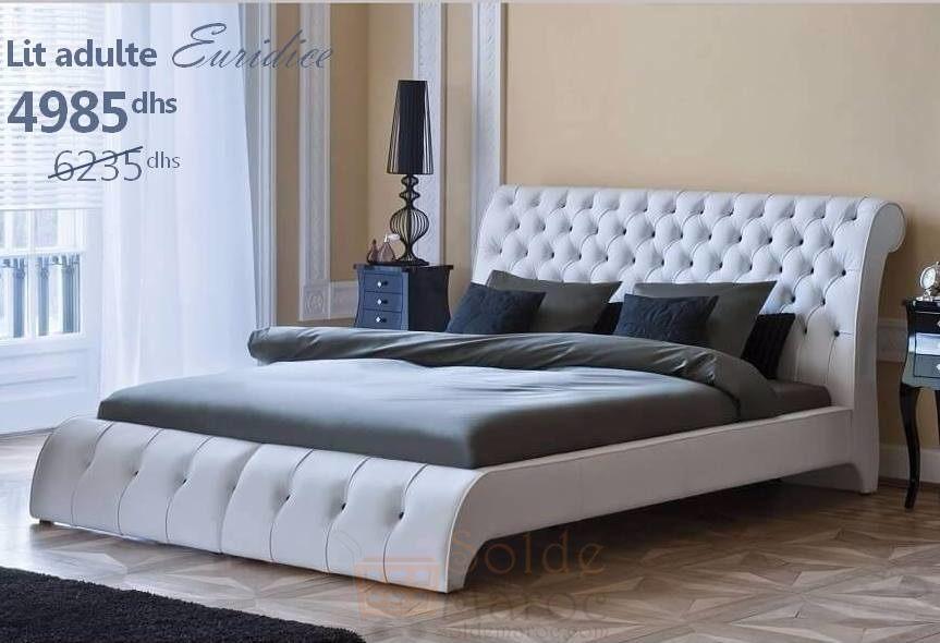 soldes azura home lit adulte euridice 160cm 4985dhs solde et promotion du maroc. Black Bedroom Furniture Sets. Home Design Ideas