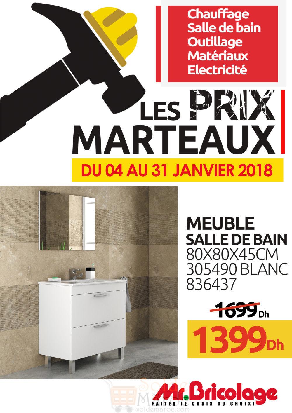 Soldes mr bricolage maroc meuble salle de bain 1399dhs - Mr bricolage salle de bain ...