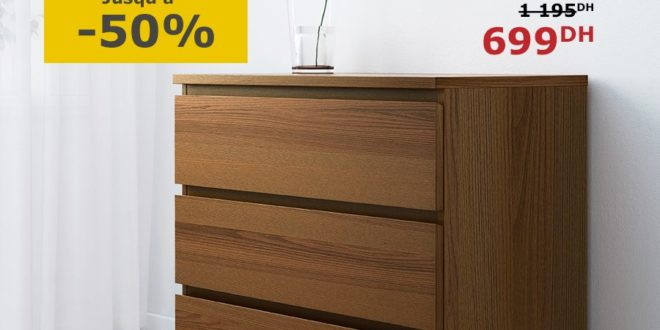 soldes ikea maroc commode malm 3 tiroirs 699dhs les. Black Bedroom Furniture Sets. Home Design Ideas