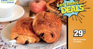 Les Bons Deals Aswak Assalam Pains au Chocolat 30Dhs
