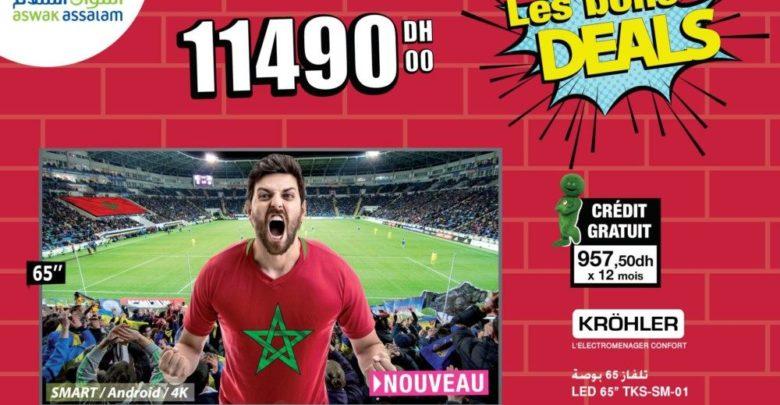 Photo of Les Bons Deals Aswak Assalam Smart Tv KROHLER 65″ 4K 11490Dhs