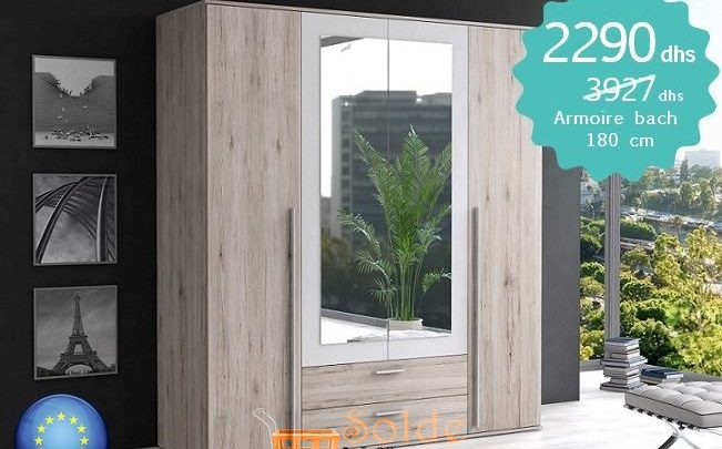 Photo of Promo Azura Home Armoir Bach 180cm 2290Dhs