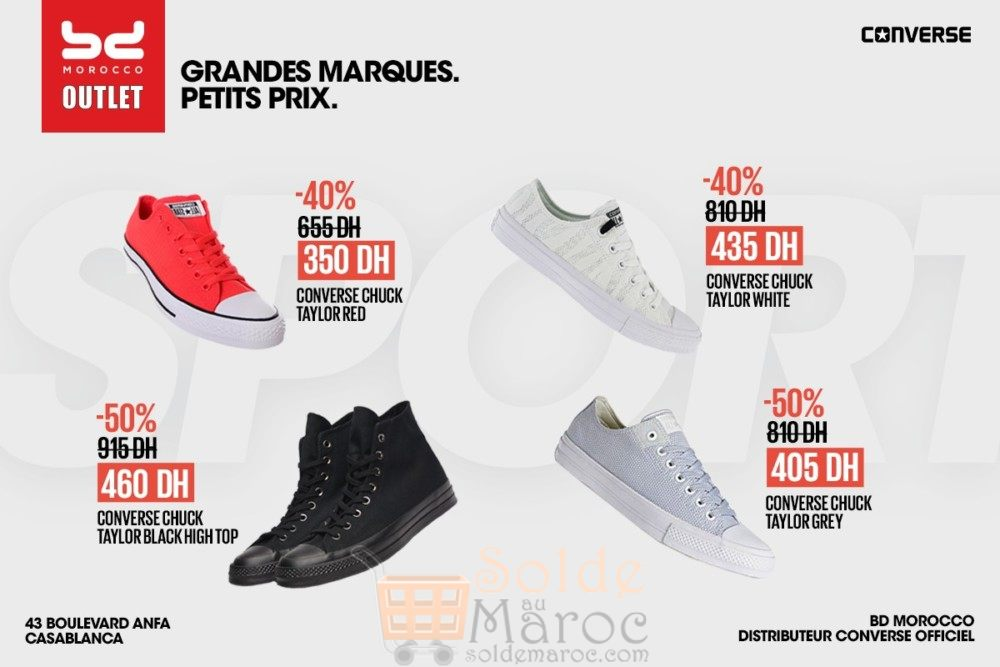 Promo Bd Morocco Outlet All Star de Converse Jusqu'à 50