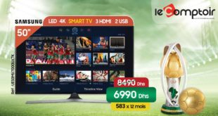 Promo Le Comptoir Electro Smart TV 50″ 4K SAMSUNG 6990 Dhs