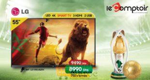 Promo Le Comptoir Electro Smart TV 50″ 4K LG 8990 Dhs