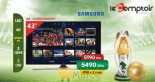Promo Le Comptoir Electro Smart TV 43″ Samsung 4K 5490Dhs