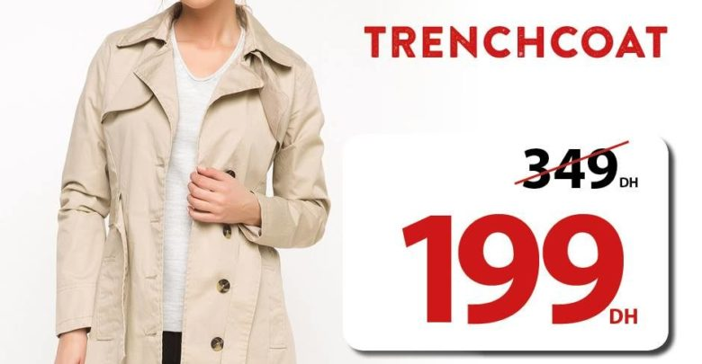 Photo of Soldes Defacto Maroc Trenchcoat Femme 199Dhs