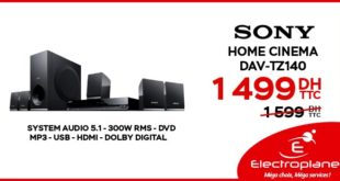 Promo Electroplanet Home Cinema Sony 1499Dhs